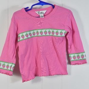 Girl's Lilly Pulitzer Pink Strawberry Top Sz 4